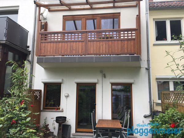 Holzarbeiten in Teilrenovierung fertig gestellt: nun ist alles wieder geschützt vor Wind und Wetter - Malermeisterbetrieb aus Bremen