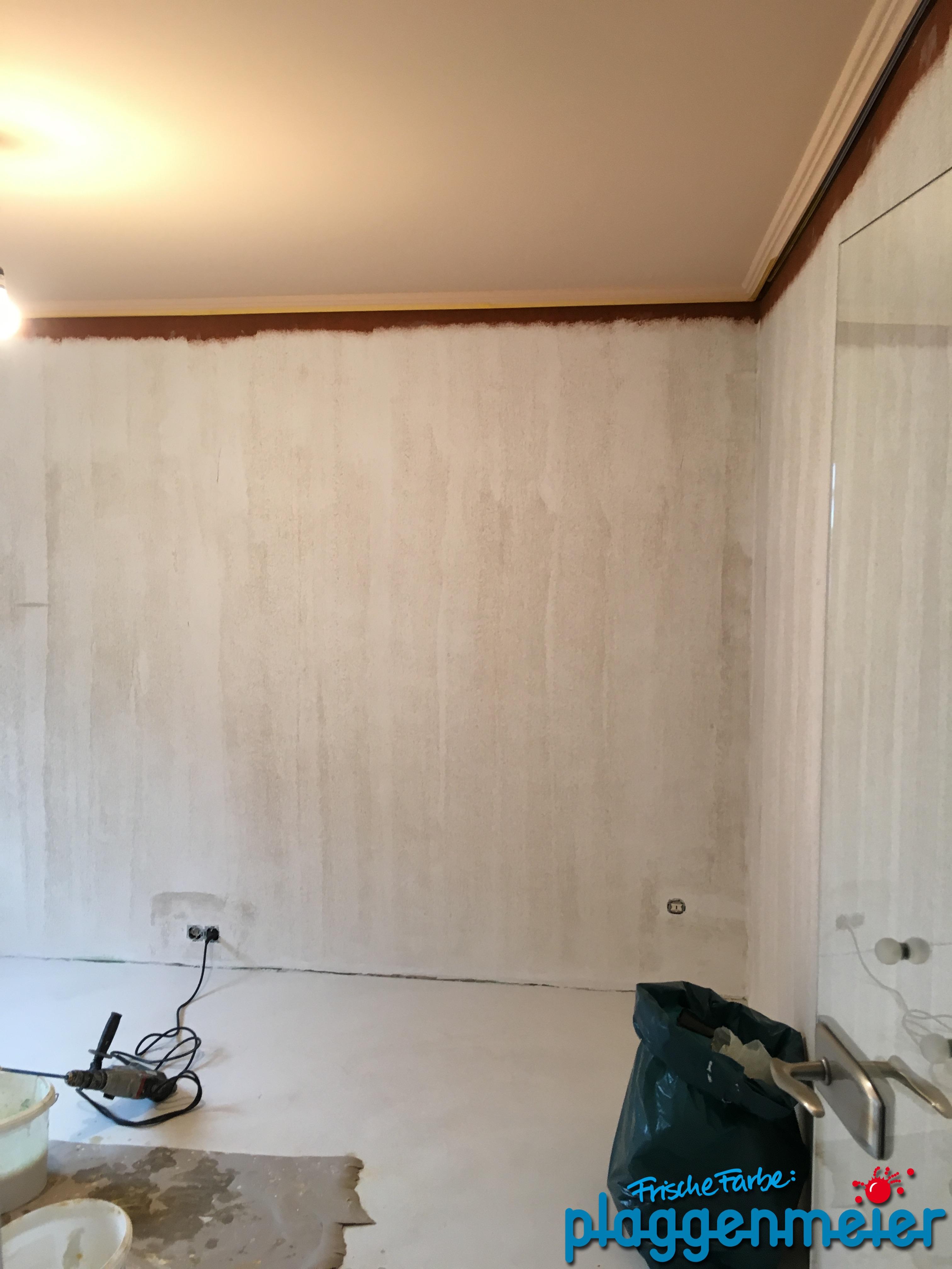 Vorbereitungen abgeschlossen, jetzt kann die Volimea Beschichtung aufgetragen werden. In Delmenhorst und Bremen von Plaggenmeier