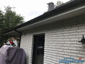 Dieses Haus hatte wirklich sehr viel Dachüberstand... Für Servicemaler aus Bremen kein Problem!