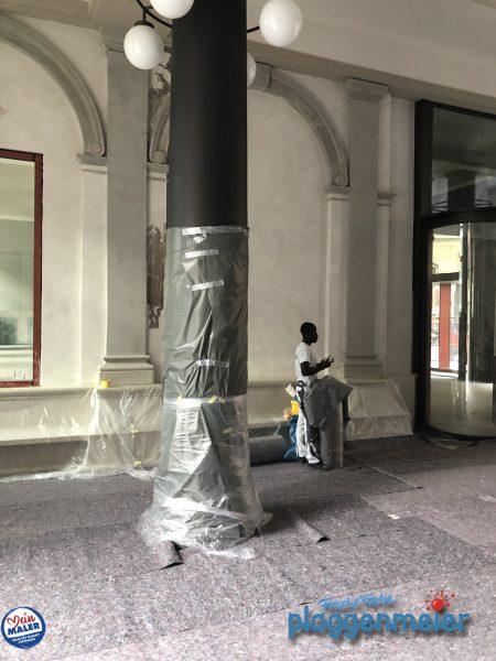 Wir bereiten unsere Arbeiten immer gut vor! Nicht nur bei Denkmalschutz-Projekten. Frische Farbe Plaggenmeier, der Maler aus Bremen.