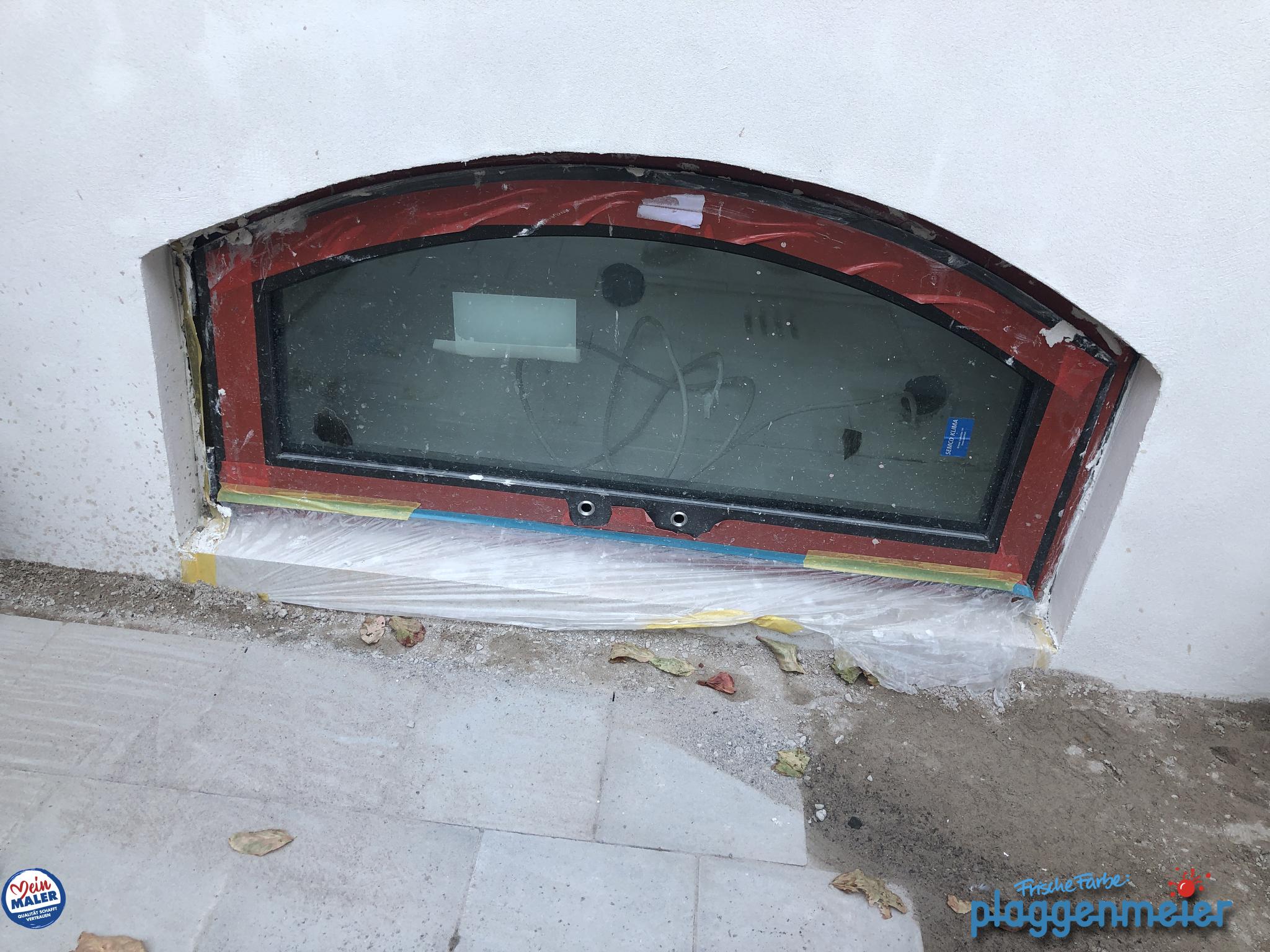 Denkmalschutz-Maler schützen auch während der Arbeit ihr Werk. In Bremen vom Wunschmaler Frische Farbe Plaggenmeier