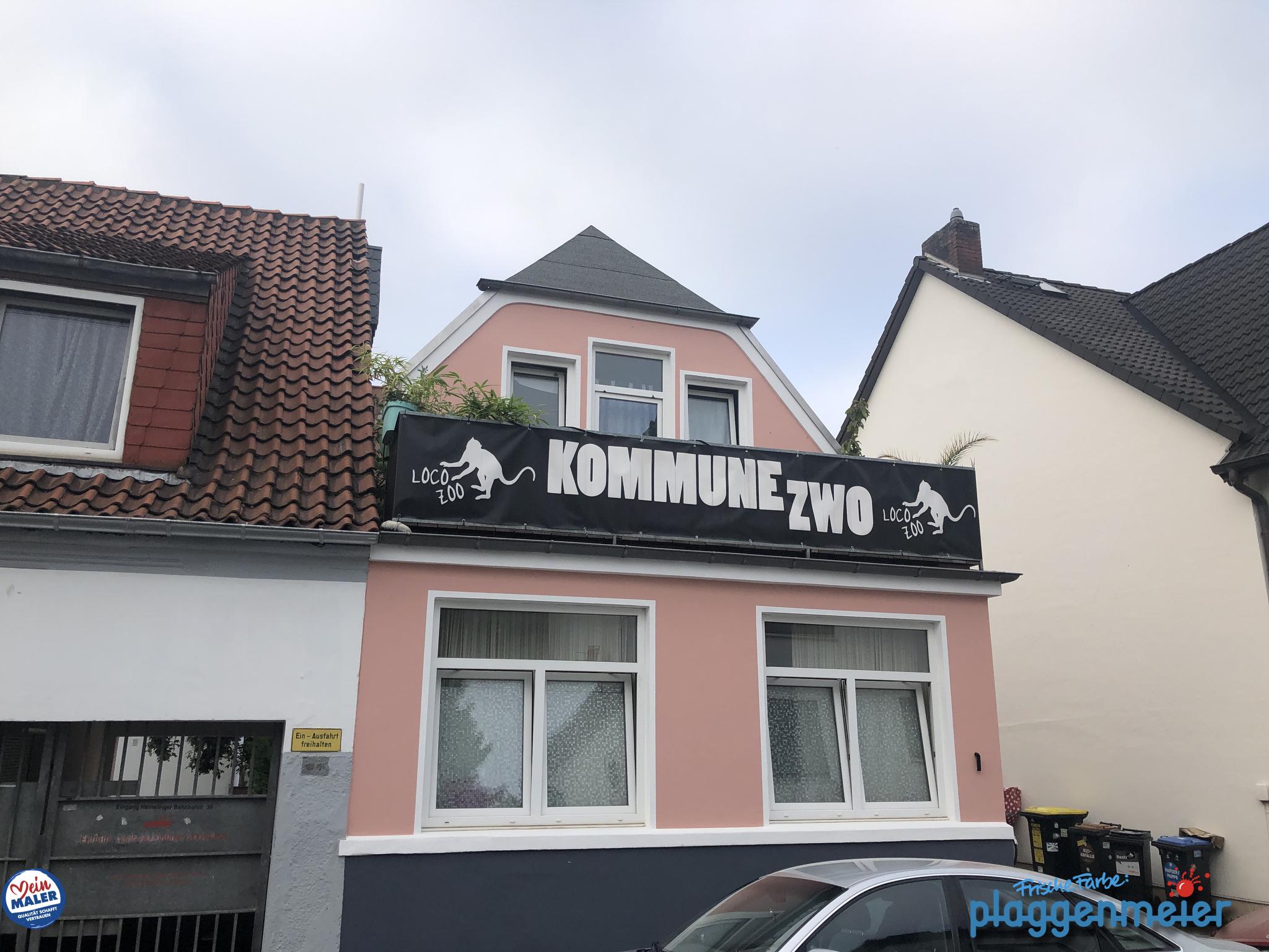 Kommune zwo ist nach unserem Fassadenanstrich in Bremen nicht mehr zu übersehen