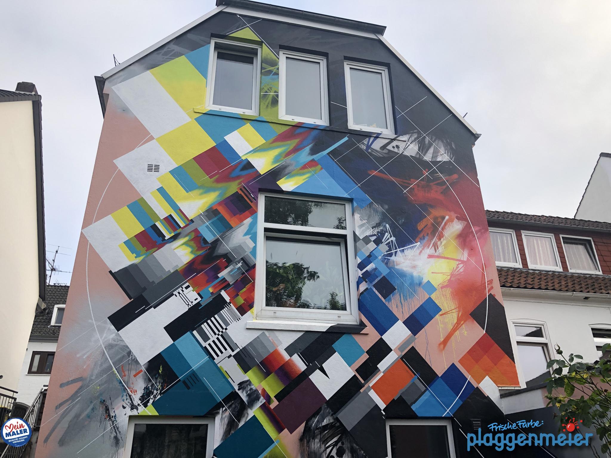 Fassadenanstrich durchsichtig, um die Kunst zu konservieren - in Bremen von Fassadenprofis Plaggenmeier
