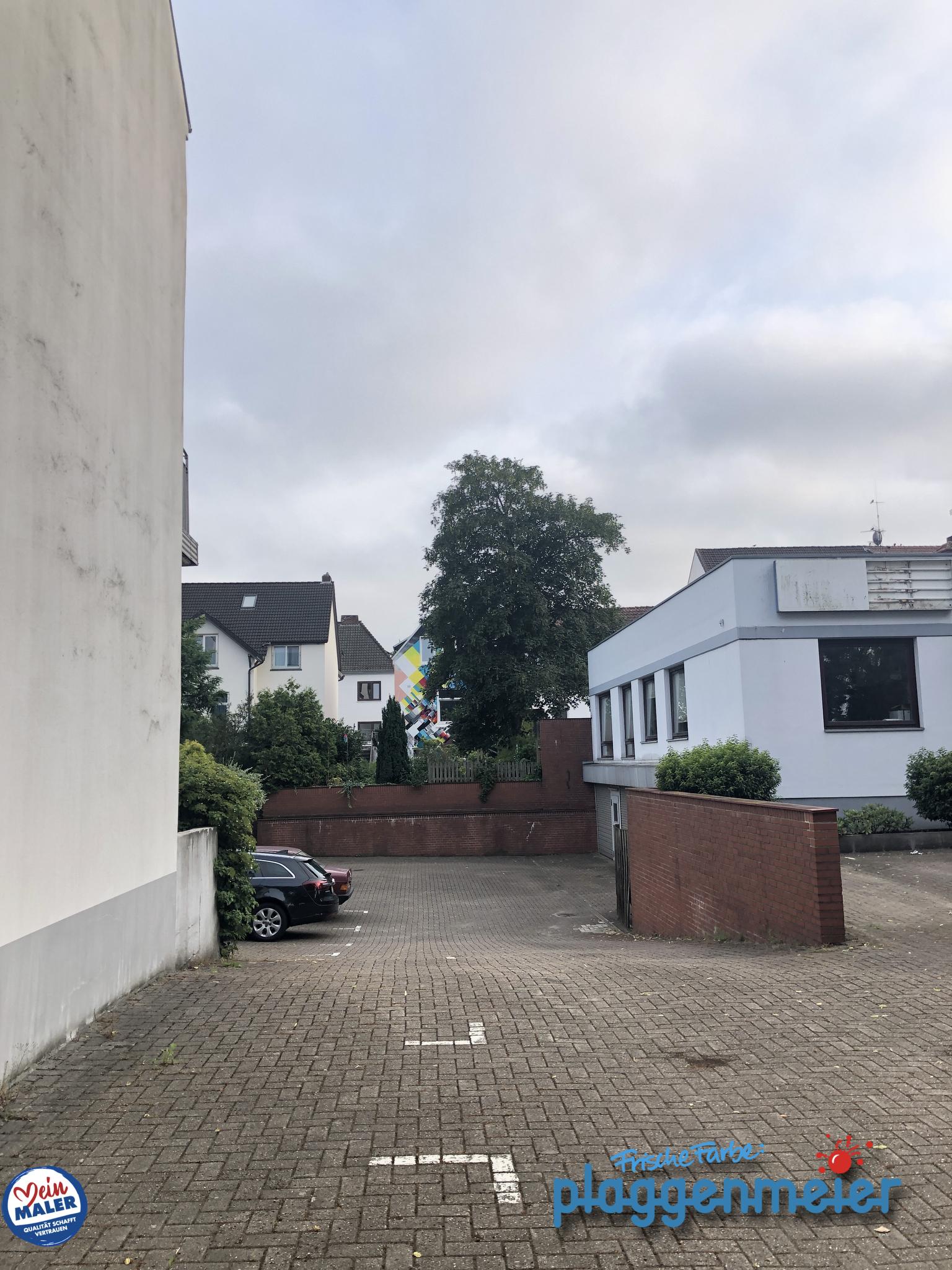 Wo versteckt sich unser Fassadenanstrich mit Graffiti-Kunst? In Bremen Hemelingen nahe beim Maler Plaggenmeier